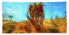Overgrown Cactii Beach Towel