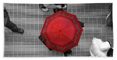 Overhead Red Beach Towel