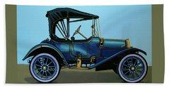 Overland 1911 Painting Beach Sheet by Paul Meijering