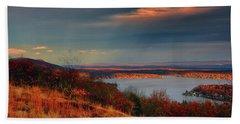 Overlooking Culvers Lake Beach Sheet by Raymond Salani III