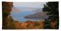 Overlooking Kinzua Lake Beach Towel