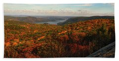 Overlooking The Hudson River In Fall Beach Towel