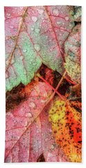 Overnight Rain Leaves Beach Sheet by Todd Breitling