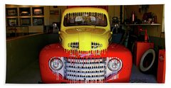 Overpainted 1950 Ford Pickup Beach Towel