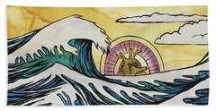 Beach Towel featuring the painting Overwhelming Love by Nathan Rhoads