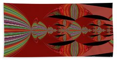 Red Abstract Ovs 26 Beach Towel