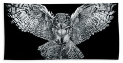 Owl 1 Beach Towel