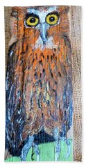 Owl Beach Towel by Ann Michelle Swadener