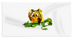 Cute Owl  Beach Towel