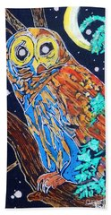Owl Light Beach Towel
