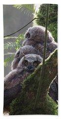 Owl Morning Beach Towel