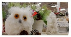 Owl On The Shelf Beach Sheet