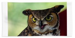 Owl Tongue Beach Towel