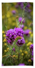 Beach Sheet featuring the photograph Owl's Clover by Peter Tellone