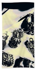 Owls From Blue Yonder Beach Towel