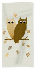 Owls Pattern Art Beach Sheet by Christina Rollo
