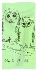 Owlz R Us Beach Sheet