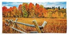 Oxbow Bend Fall Color Beach Sheet
