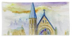 Oxford Church Beach Towel