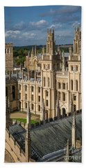 Beach Towel featuring the photograph Oxford Spires by Brian Jannsen