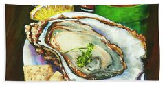 Oyster And Crystal Beach Towel