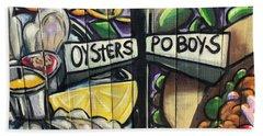 Oyster Poboys Beach Towel
