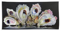 Oyster Reef Beach Towel by Phyllis Beiser