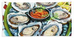Oysters On The Half Shell Beach Towel