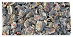 Oysters Shells Beach Towel