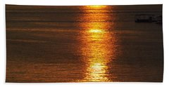 Beach Sheet featuring the photograph Ozark Lake Sunset by Don Koester