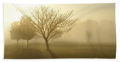 Ozarks Misty Golden Morning Sunrise Beach Sheet