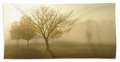 Ozarks Misty Golden Morning Sunrise Beach Sheet