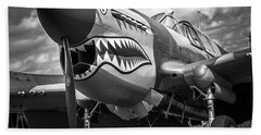 P-40 Warhawks - Bw Series Beach Towel