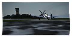 Beach Towel featuring the photograph P-51  by Douglas Stucky