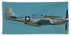 P 51d Mustang Beach Towel