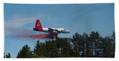 P2v Red Canyon Fire Beach Towel