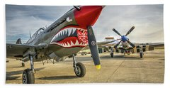 P40 And P51 At Hollister Beach Towel