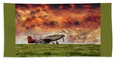 P51 Warbird Beach Towel