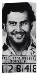 Pablo Escobar Mug Shot 1991 Vertical Beach Sheet