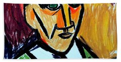 Pablo Picasso 1907 Self-portrait Remake Beach Towel