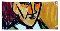 Pablo Picasso 1907 Self-portrait Remake Beach Sheet