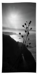 Pacific Coast B/w Beach Towel