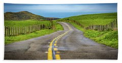 Beach Towel featuring the photograph Pacific Coast Road To Tomales Bay by Donnie Whitaker