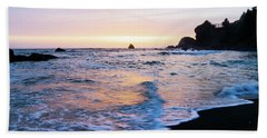 Beach Towel featuring the photograph Pacific Coast Sunset by TL Mair