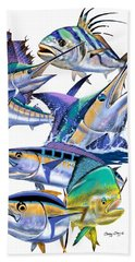 Pacific Gamefish  Beach Towel by Carey Chen