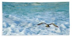 Pacific Golden Plover Flying Beach Towel