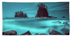 Pacific Moody Sea Stacks Beach Towel