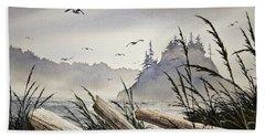 Pacific Northwest Driftwood Shore Beach Sheet