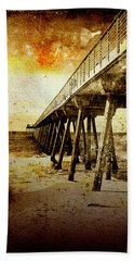 Beach Towel featuring the photograph Pacific Pier by Phil Perkins