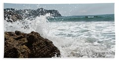 Beach Sheet featuring the photograph Pacific Splash by Yurix Sardinelly